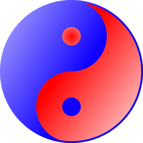 Blue Red Ying Yang