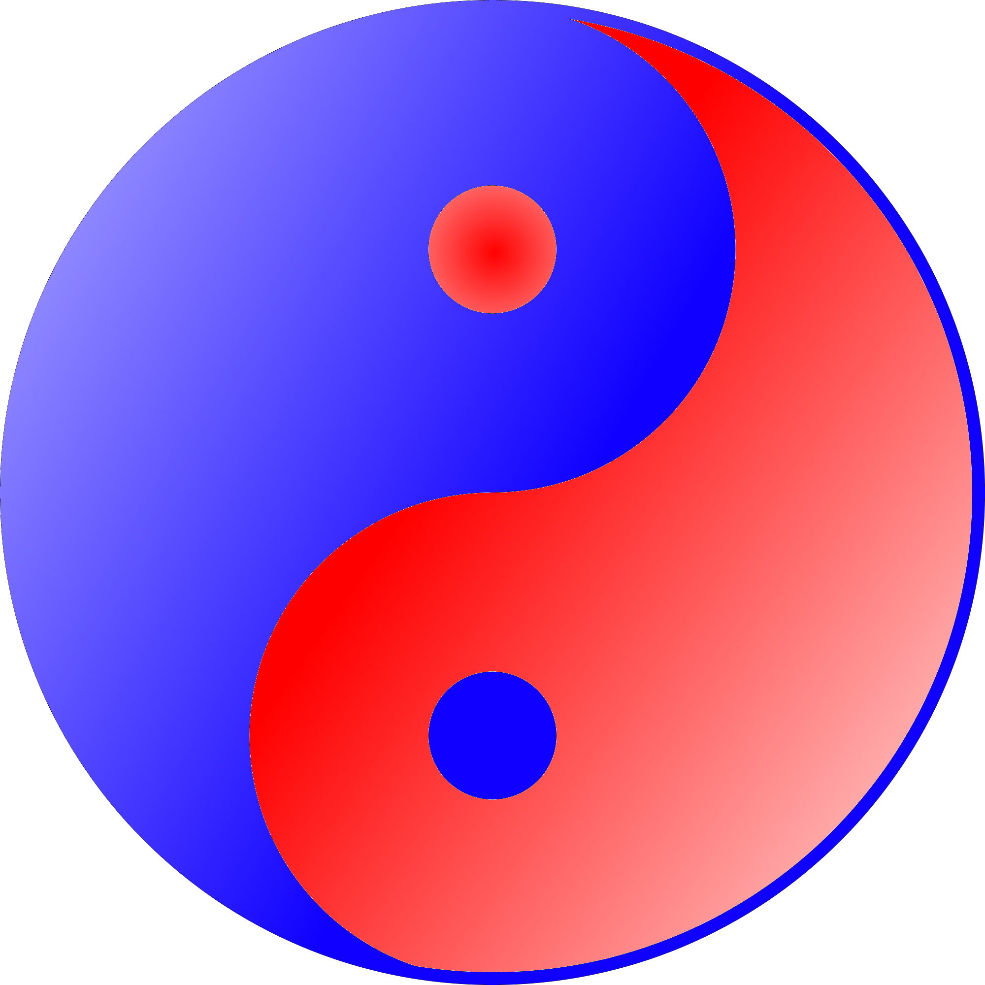 Blue Red Ying Yang